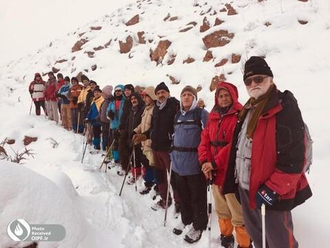 کوهنوردی گردشگری برف تبریز نشاط