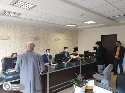 خدمت رسانی همکاران در روزهای کرونایی در تبریز