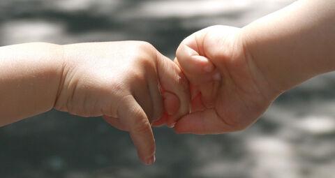 دست کودک