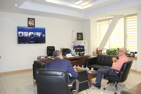 نشست معاون امور بازنشستگی و رفاه به صورت ویدیو کنفرانس