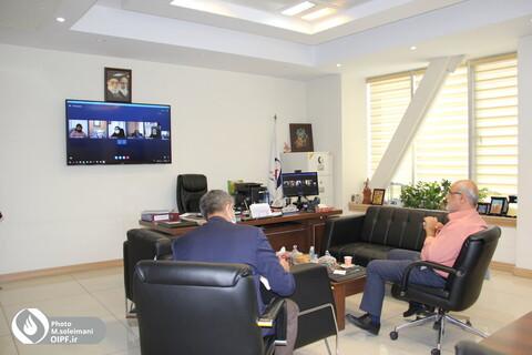 ویدئو کنفرانس آقای رامین با روسای مناطق