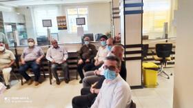 نشست رییس منطقه سه صندوق با بازنشستگان جانباز در شاهین شهر
